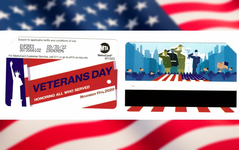 MTA Veterans Day MetroCards
