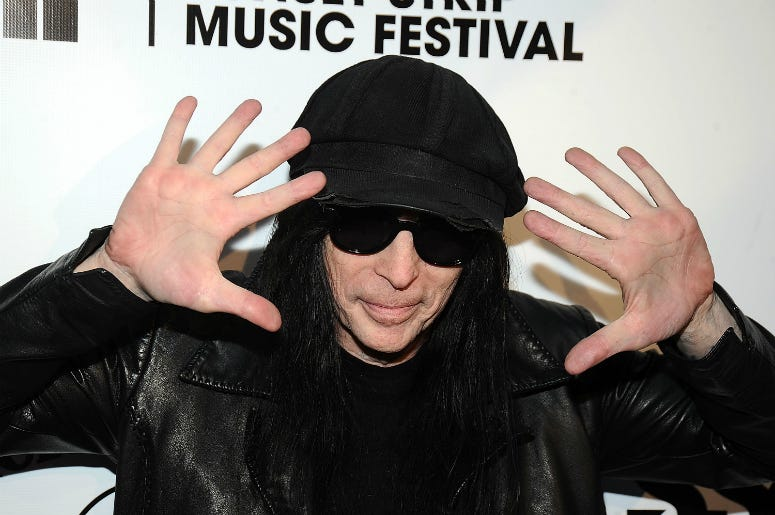 Mick Mars of Motley Crue arrives at the Annual Sunset Strip Music Festival