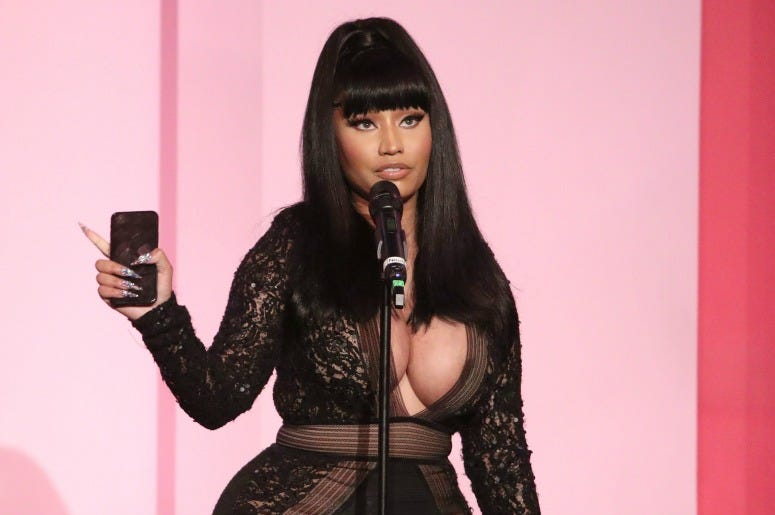 Nicki Minaj accepts the Gamechanger Award onstage during Billboard Women In Music 2019