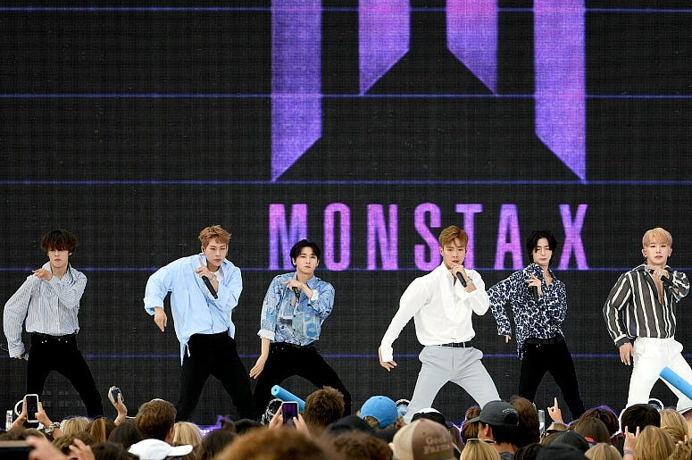 Monsta X perform onstage during FOX's Teen Choice Awards 2019