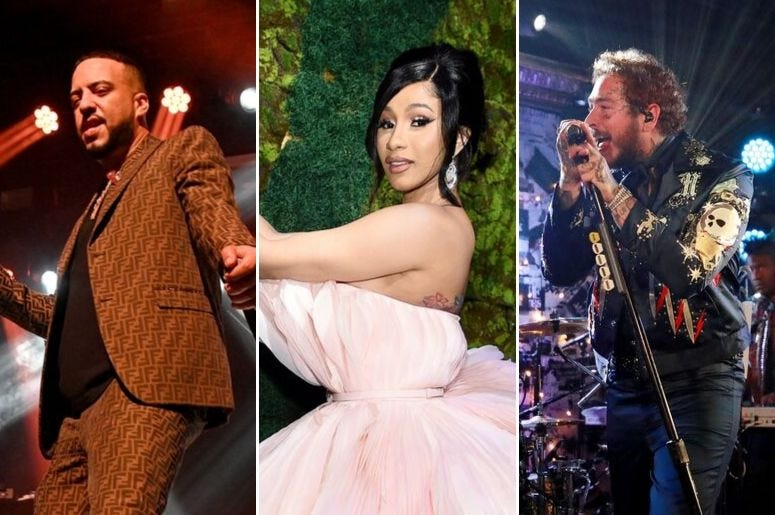 French Montana, Cardi B, and Post Malone set for new collaboration.