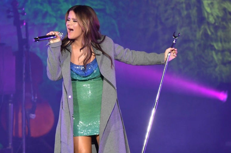 Maren Morris performs at Ascend Amphitheater on October 18, 2019