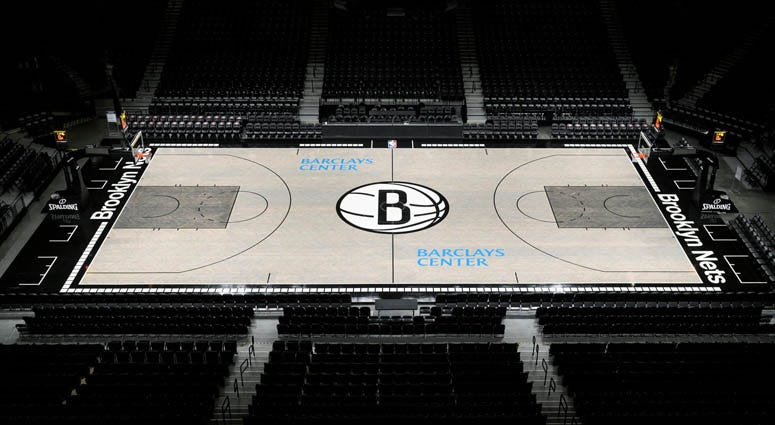 Brooklyn Nets' new court at Barclays Center