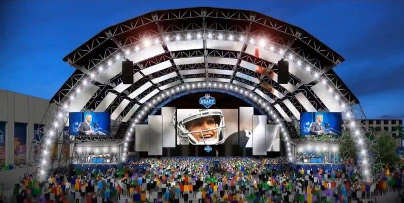 Artist diagram of what the NFL Draft in Las Vegas will look like