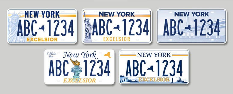 New York license plate designs