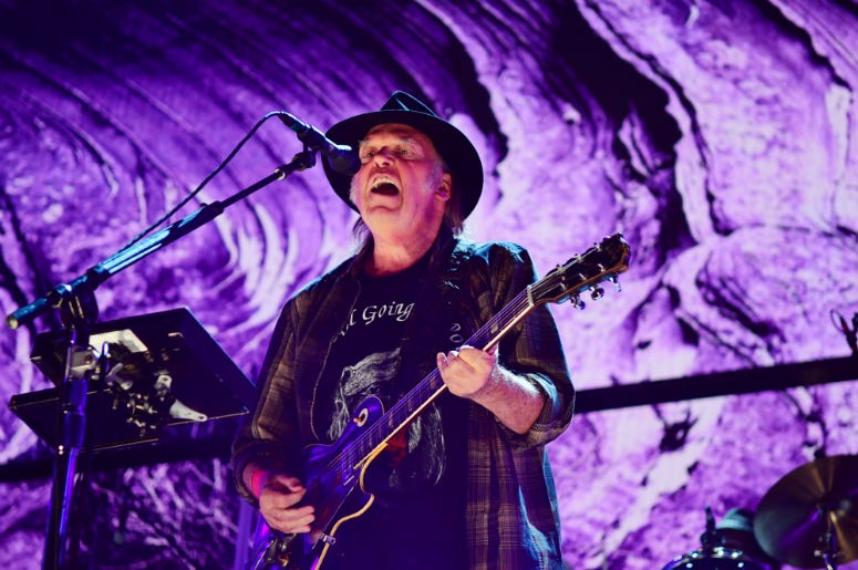 Neil Young performs during 2017 Farm Aid