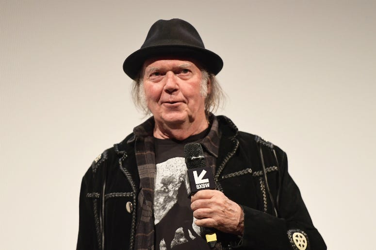 "Neil Young attend the ""Paradox"" Premiere 2018 SXSW Conference and Festivals"