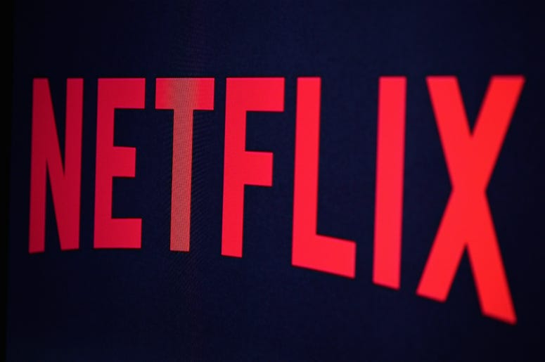 In this photo illustration the Netflix logo is seen on September 19, 2014 in Paris, France