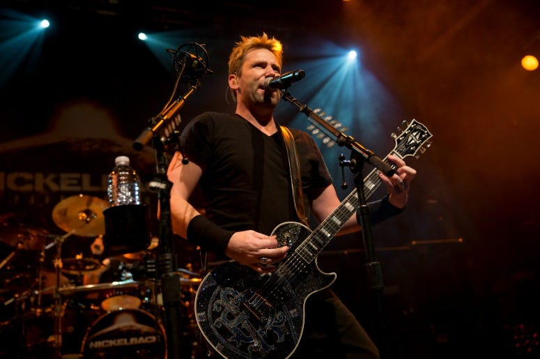 Chad Kroeger of Nickelback performs on stage