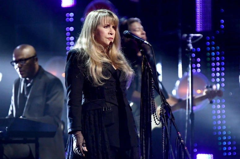 Stevie Nicks performs at the 2019 Rock & Roll Hall Of Fame Induction Ceremony