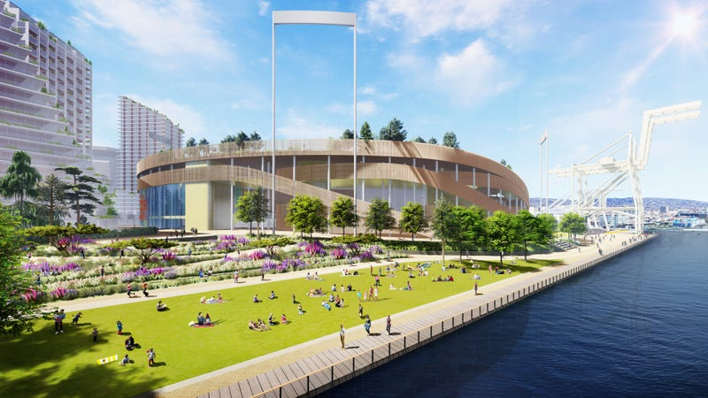 The project includes 3,000 units of housing, 400 hotel rooms and a 50,000 square foot indoor performance venue.