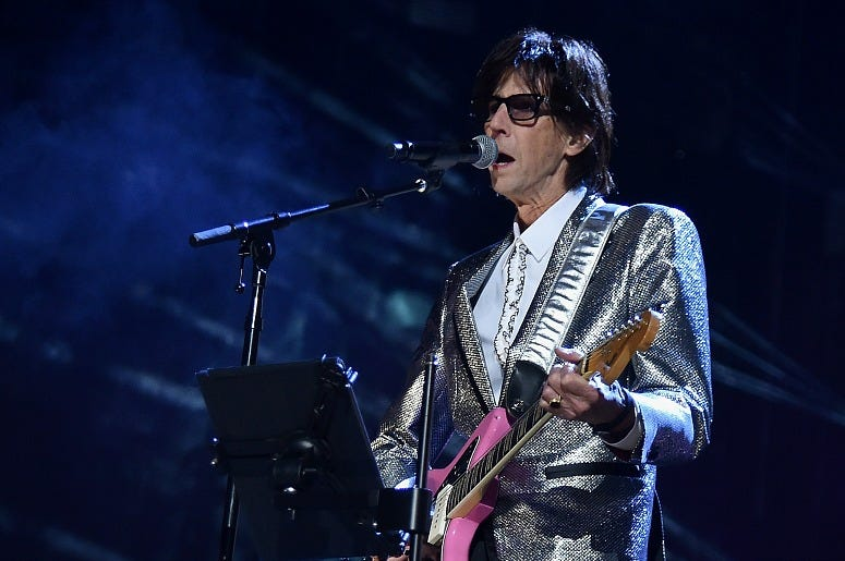 Ric Ocasek of the Cars performs during the 33rd Annual Rock & Roll Hall of Fame Induction Ceremony.
