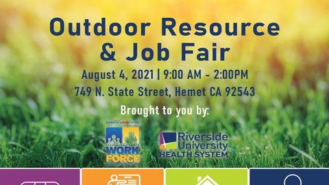 Outdoor Resource and Job Fair in Hemet