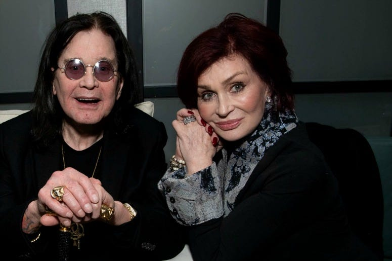 Ozzy Osbourne and Sharon Osbourne attend the after party for the special screening of Momentum Pictures' 'A Million Little Pieces' on December 04, 2019