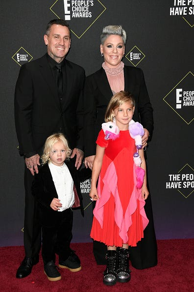 P!nk and family