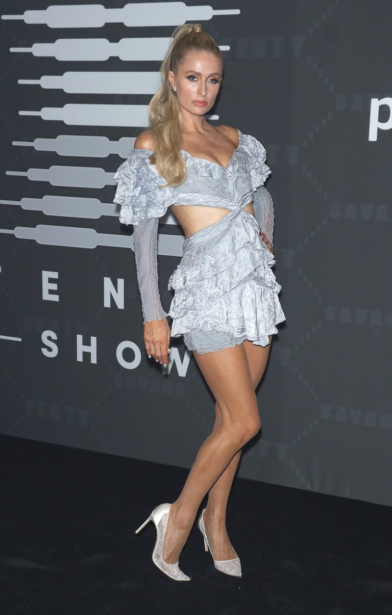 Paris Hilton attends the Savage x Fenty arrivals during New York Fashion Week