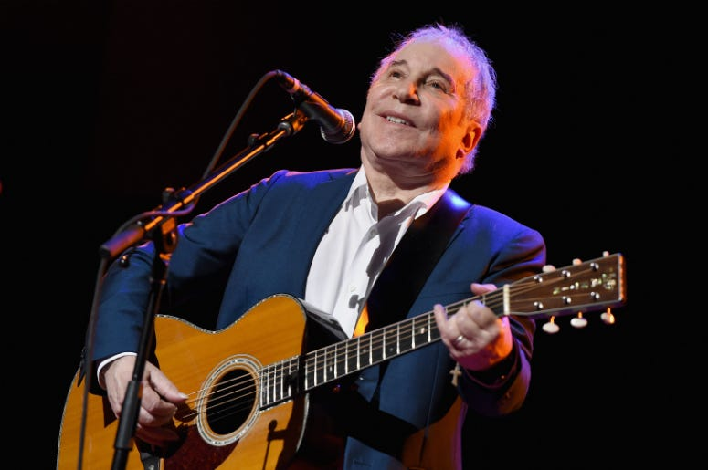 Paul Simon performs onstage during Global Citizen: The World On Stage at NYU Skirball Center