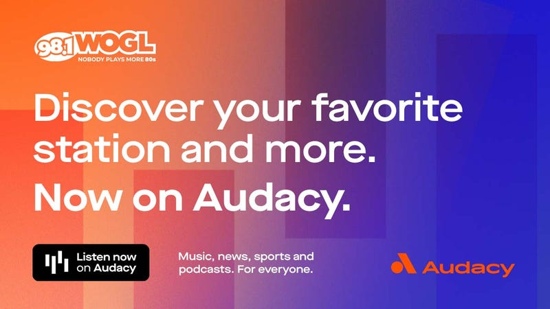 Listen To 98.1 WOGL Anywhere! On The Audacy app, Alexa, Google Home, Smartspeakers, in philadelphia and philly, delaware, new jersey and beyond!