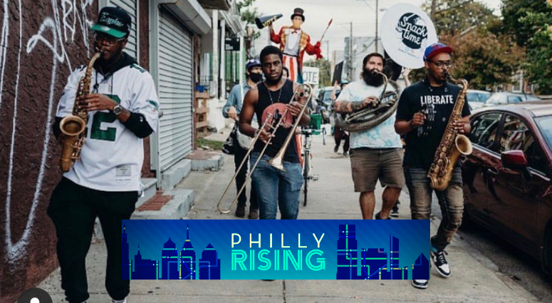 Philly street band brings moments of joy to city during chaotic times.