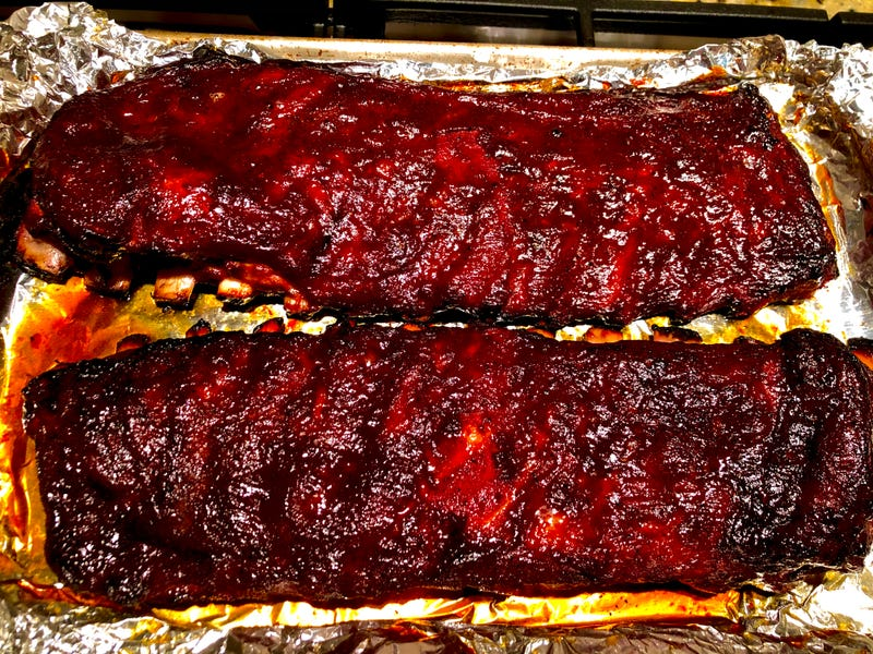 Peanut Butter Whiskey Smoked Ribs