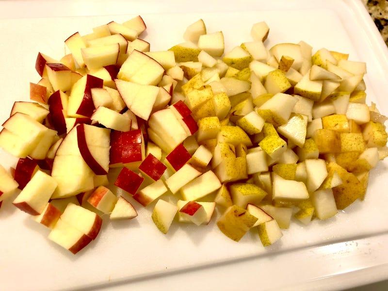 Apple Cider Brined Pork Chops with Apple Pear Chutney
