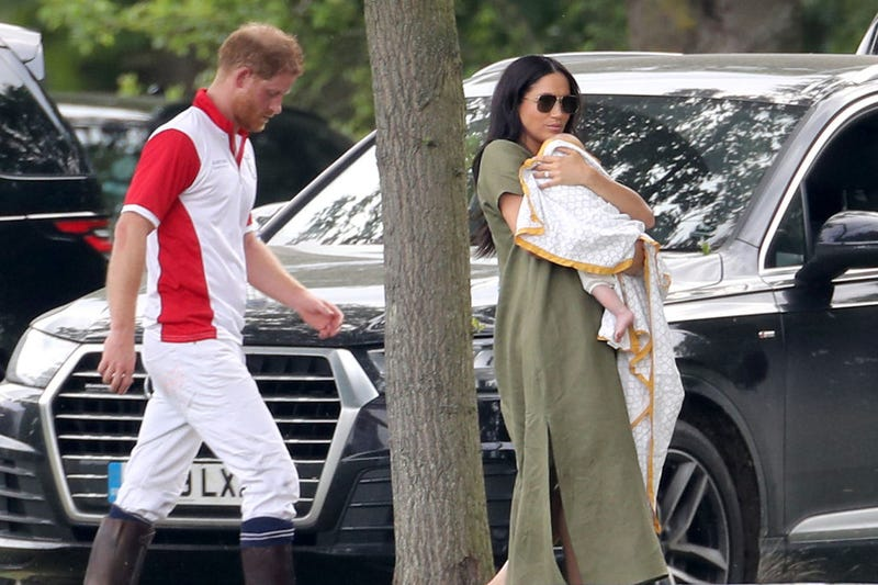 Prince Harry, Meghan Markle, and baby Archie out for a polo tournament