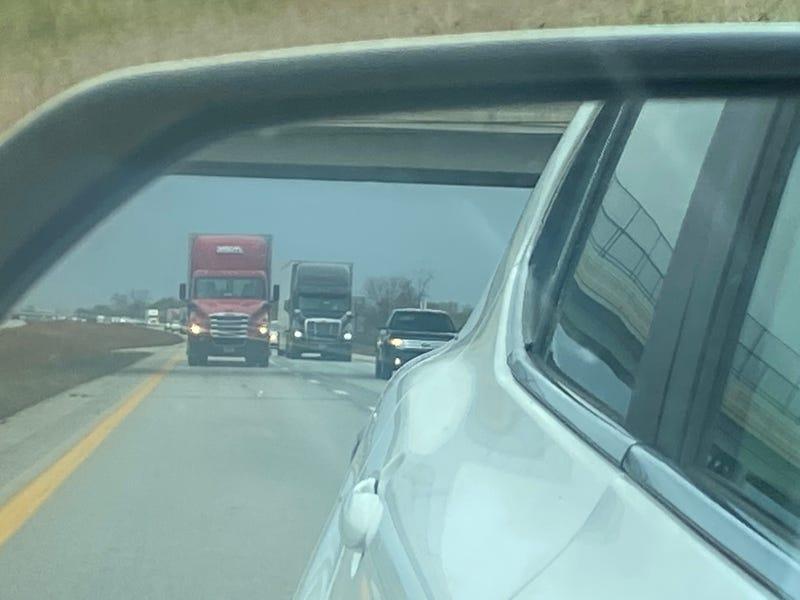 Trucks on a highway in America's heartland