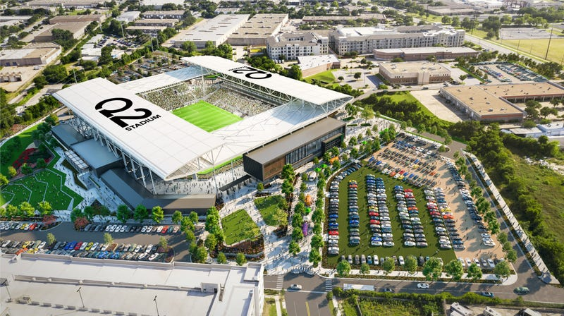 Austin FC Q2 Stadium aerial view
