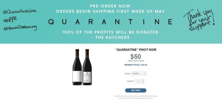 Quarantine wine.