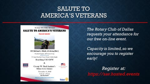 K-LUV supports The Dallas Rotary's 16th Annual Salute to America's Veterans