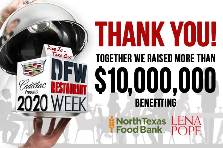 2020 DFW Restaurant Week Thank You!