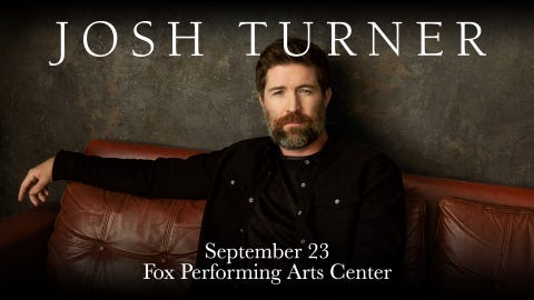 Josh Turner Coming to the Fox Performing Arts Center