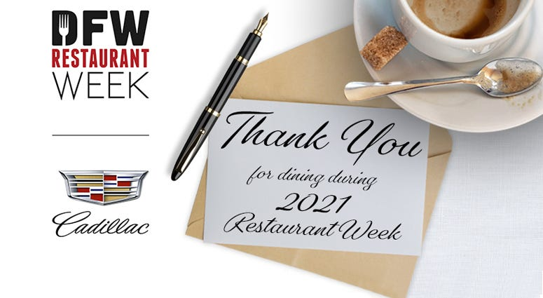 Thank You For Supporting DFW Restaurant Week!!