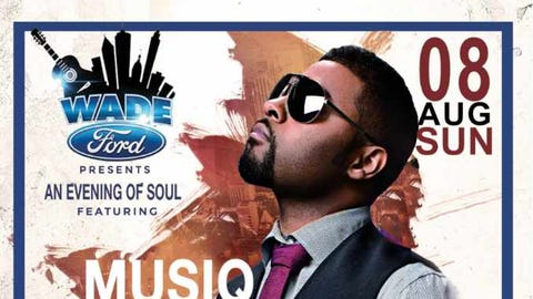 """""""An Evening of Soul"""" featuring Musiq Soulchild, Avery Sunshine, and Ken Ford hosted by MC Lightfoot at Mable House Barnes Amphitheater in Mableton, GA."""