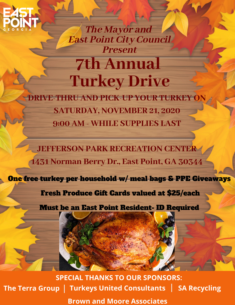7th Annual City of East Point Turkey Giveaway