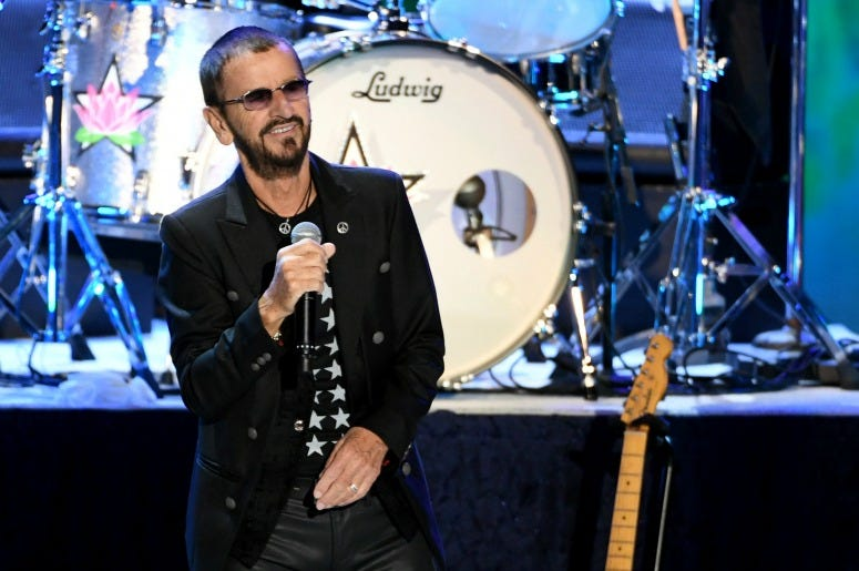 Ringo Starr performs during the Ringo Starr and his All Starr Band concert