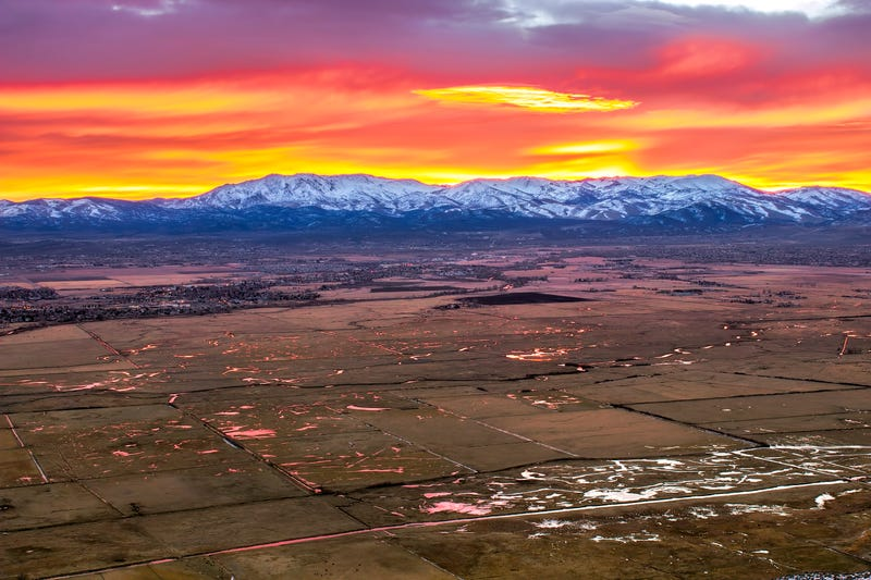 A panoramic view of rural Nevada land