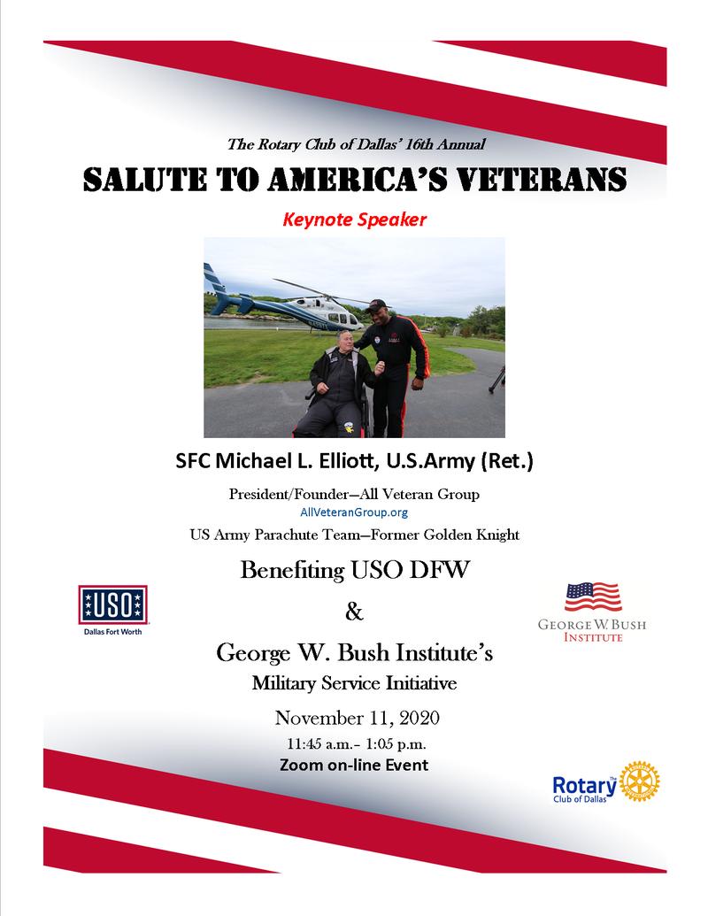 Keynote Speaker: SFC Michael L. Elliott, U.S. Army (Ret.)