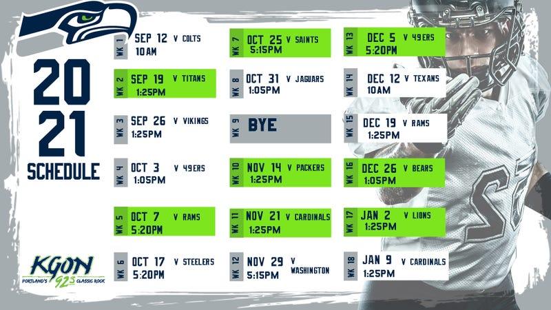 Seahawks 2021 Schedule