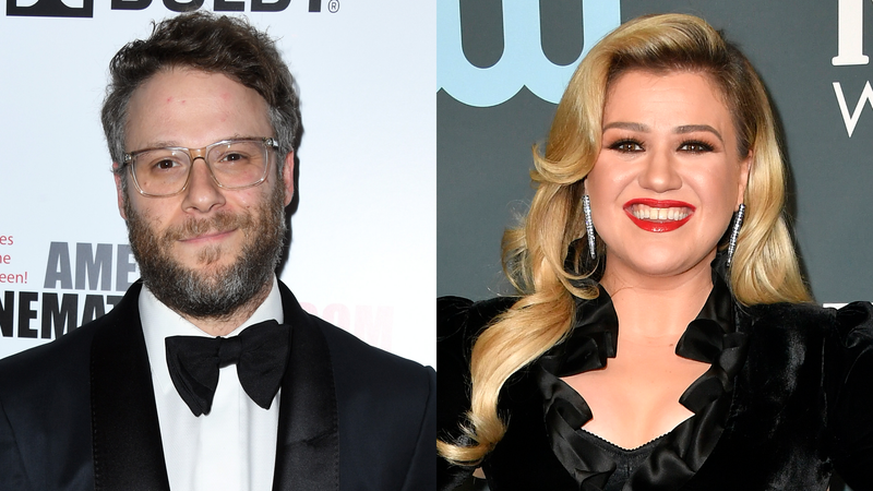 Seth Rogen and Kelly Clarkson