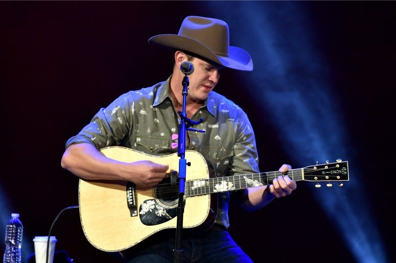 "Jon Pardi performs on stage during ""Stars and Strings Presented by RAM Trucks Built to Serve,"" a RADIO.COM Event"