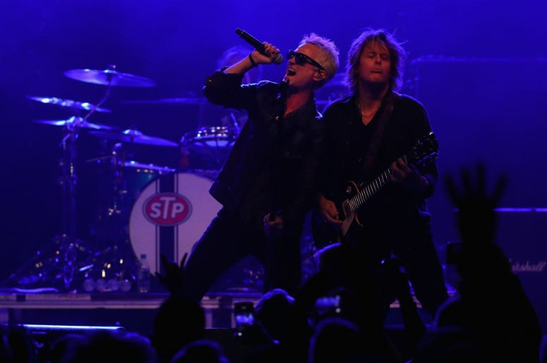 Jeff Gutt and Dean DeLeo of Stone Temple Pilots perform at Marquee Theatre