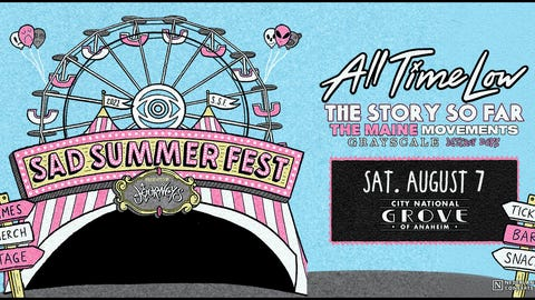 Sad Summer Festival with All Time Low and The Maine