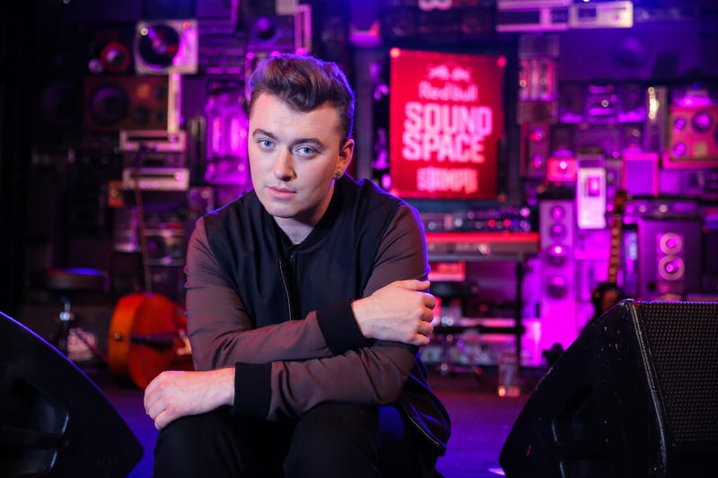 Singer Sam Smith poses for a portrait before his performance at the Red Bull Sound Space at 97.1 AMP Radio on August 25, 2014 in Los Angeles, California.