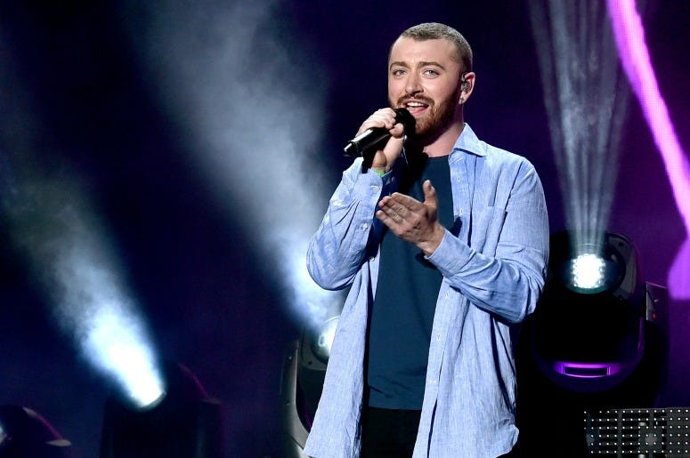Sam Smith performs onstage during the Disclosure show on day 2 of the 2016 Coachella Valley Music & Arts Festival Weekend 1