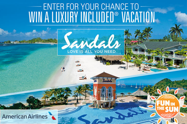 Sandals American Airlines Fun in the Sun contest