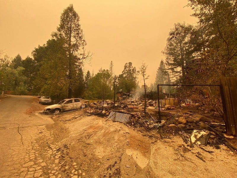 A very sad and familiar scene near Santa Rosa.