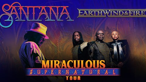 CARLOS SANTANA + EARTH, WIND & FIRE