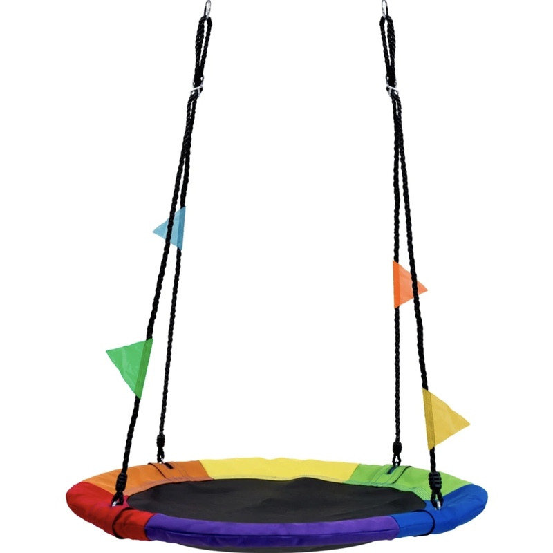Saucer Tree Swing in Elite Rainbow