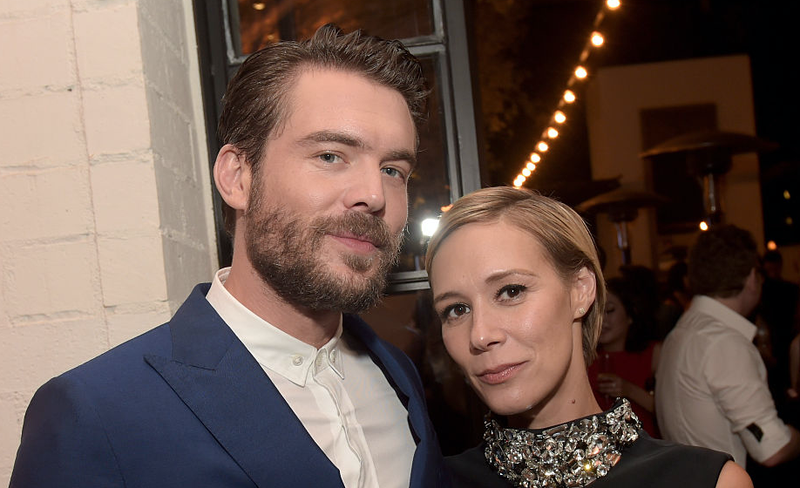 Charlie Weber and Liza Weil at an ABC Television party.